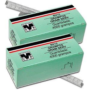 Kit com 2 Caixas de Grampos 10mm 80/10 Para Grampeador Rocama