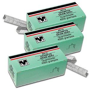 Kit com 3 Caixas de Grampos 10mm 80/10 Para Grampeador Rocama