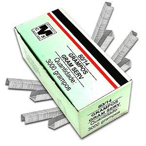 Caixa Com 3000 Grampos 14mm 80/14 Para Grampeador Rocama