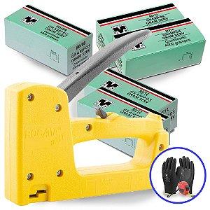 Kit Grampeador Pinador 80F Rocama Com Grampos 14mm ,10mm e 8mm