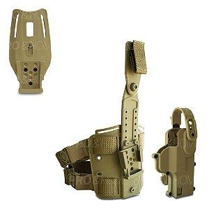 Coldre Curto MCC03 + Suporte Perna e Suporte Cintura Catraca Quadrada Maynards