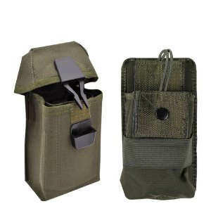 Kit Porta Carregador Cintura e Porta Rádio de Colete Atack Verde