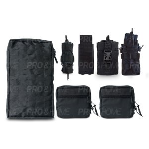Kit Completo para Colete Modular Maynards Porta Carregador Lanterna Rádio Fuzil Camelback com Speed Clip