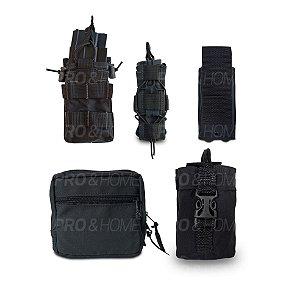 Kit para Colete Modular Padrão Molle Maynards com Porta Utilitários, Carregadores, Lanterna e Rádio