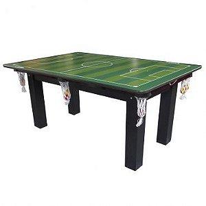Mesa de Jogos 4 em 1 Sinuca Ping Pong e Futebol de Botão Klopf