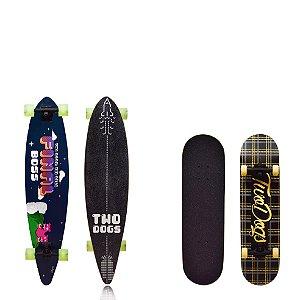Skate Longboard Flying D3 + Skateboard Ramble Xadrez Twodogs