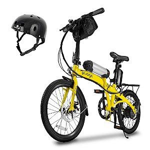 Bicicleta Pliage Plus Elétrica Dobrável TwoDogs + Capacete Preto Bob Burnquist