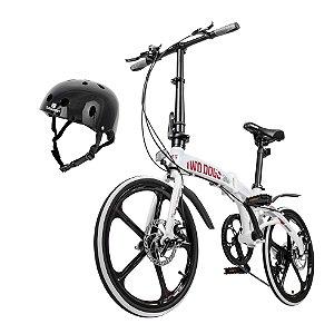 Bicicleta Pliage Alloy Twodogs + Capacete Preto Bob Burnquist