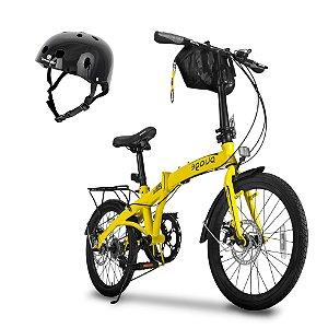 Bicicleta Pliage Plus Twodogs + Capacete Preto Bob Burnquist