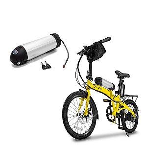 "Bicicleta Pliage Plus Elétrica Dobrável TwoDogs + Bateria Extra ""garrafa"" para bike Elétrica 36V Litio"