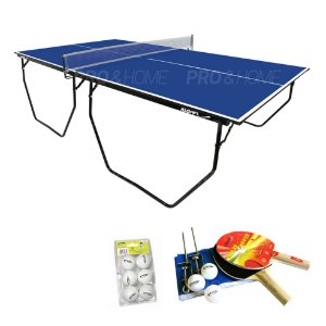 Kit Ping-Pong Mesa 1009 com Rede, Bolas e Raquetes Klopf