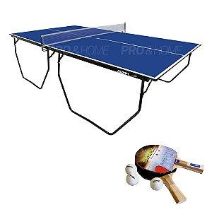 Kit Ping-Pong Mesa 1009 Dobrável com Acessórios Klopf