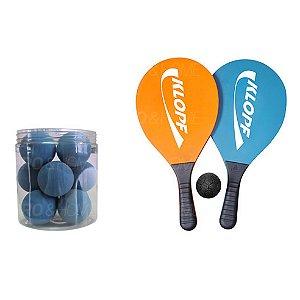 Kit Frescobol com 2 Raquetes e Pote de Bolas Klopf
