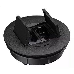 Kit Caixa Elétrica Embutir de Mesa com 2 Tomadas 10A Qtmov