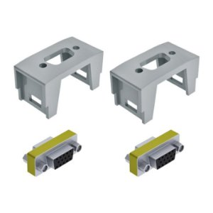 Bloco Db9/DB15 + Conectores Monitor DB15 tipo Emenda QTmov