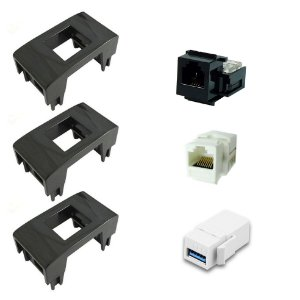 Bloco Adaptador + Conectores RJ11, USB E RJ45 Tipo Emenda QTmov