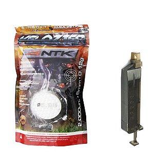 Munição Airsoft Bbs 0,12g 6mm + Carregador 100 BBs Loader CYMA