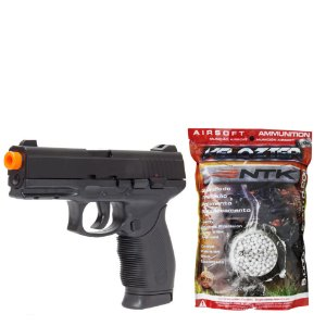 Pistola Airsoft 24/7 Black Mola KWC + Munição Airsoft BBs 0.20g 5000 Und Nautika