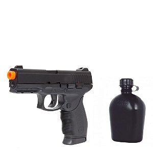 Pistola Airsoft 24/7 Black Mola Kwc + Cantil 900ml Bélica