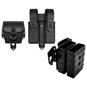 Porta Carregador Fuzil Pistola e Porta Algema Modular Em Polímero Bélica