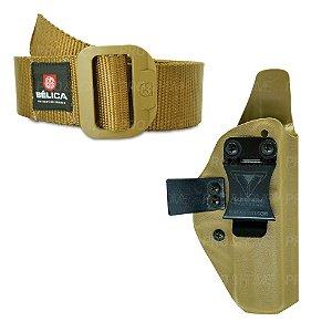 Kit Coldre Interno Kydex Slim008 Magnum + Cinto BDU Bélica