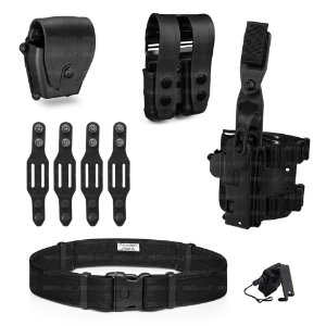 Kit Coldre de Perna MP04+Cinto+Porta Algemas e Carregador+Belt Keeper+Fiel Maynards