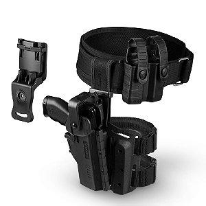 Kit Coldre de Perna Hammer II + Cinto + Porta Carregador Tab Lock² Bélica