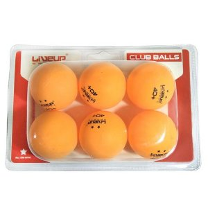 6 Bolas Tênis De Mesa Blister 40mm Laranja Ping Pong
