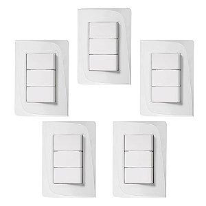 Kit Espelho Completo 5x + Interruptor 10A Pezzi