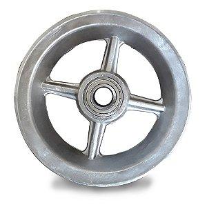 """Aro de Alumínio 4 Raios 8"""" Usinado com Rolamento"""