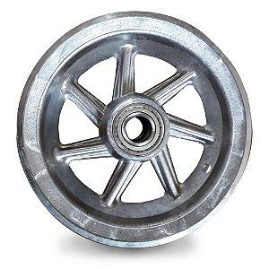 Aro de Alumínio 7 Raios 8 Polegadas Usinado C/ Rolamento