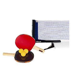 Kit Tênis de Mesa Raquetes Bolas e Rede Ping Pong