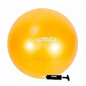 Bola Suíça Gym Ball Ginástica e Pilates 75cm Amarela LiveUp
