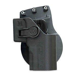 Coldre de Cintura em Polímero MC05 Preto Maynards Uso Admnistrativo PT 24/7 e PT840