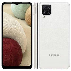 Smartphone Samsung Galaxy A12, Câm Quád Frontal 8MP Tela 6.5,Branco
