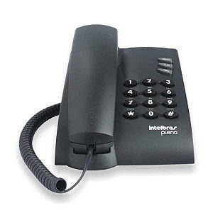 Telefone Intelbras Pleno Preto Sem Chave Com Fio