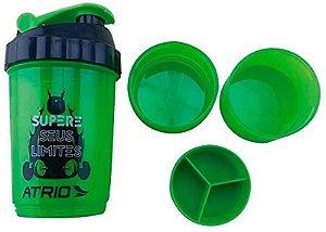 Garrafa Shaker Atrio Com 2 Compartimentos Verde - Es062