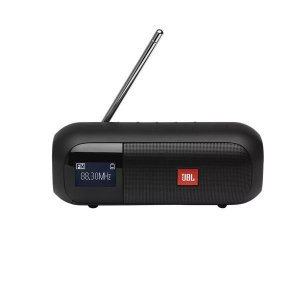 Caixa de Som JBL Tuner 2 FM Preta Rádio FM Portátil com Bluetooth À Prova D'água - 7081