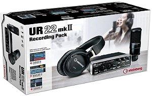 Ur22 MkII Recording Pack (UR22mk2, Mic Condenser PRO, Fone PRO, Cabo mic e usb, Cubase AI e Wavelab LE)) (computador nao incluso)