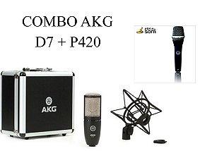 Combo de Microfones AKG . D7 + P420