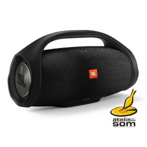 Jbl Boombox Preta Original Atelie Do Som Rev Aut Jbl Harman