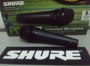 Mic Shure Pga57 + Fio P Instrumento Gar 2 Anos Atelie Do Som