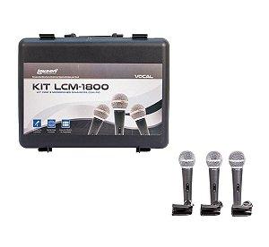 Kit 3 Microfones Lcm1800 Lexsen Rev Aut Atelie Do Som