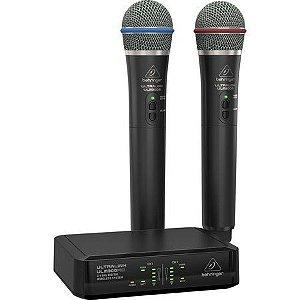 Sistema Sem Fio Behringer Ultralink Ulm302mic (2 Microfones)