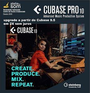 UPGRADE DE CUBASE PRO 9.5 PARA O CUBASE PRO 10