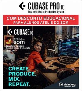 CUBASE PRO 10 COM DESCONTO EDUCACIONAL SEM CHAVE USB PARA ALUNOS ATELIE DO SOM