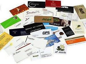 100 cartões de visita em impressão laser
