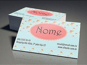 500 cartões de visita em impressão laser