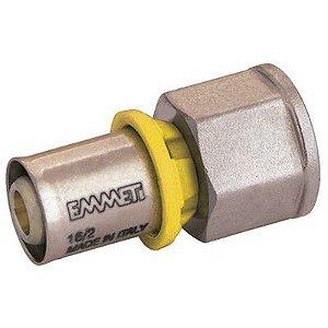Conector Fêmea para Gás 3/4x26mm Prensar Emmeti
