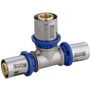 Tê Redução Para Água 26 x 20 x 16 mm  Prensar Emmeti